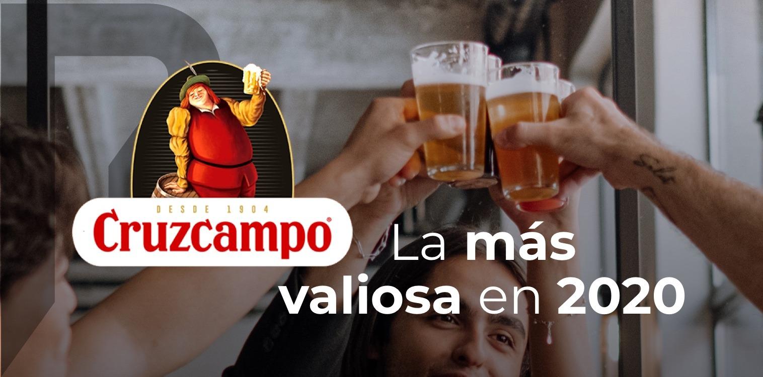 Cruzcampo marca cerveza mas valiosa ranking BrandZ 2020 de Kantar