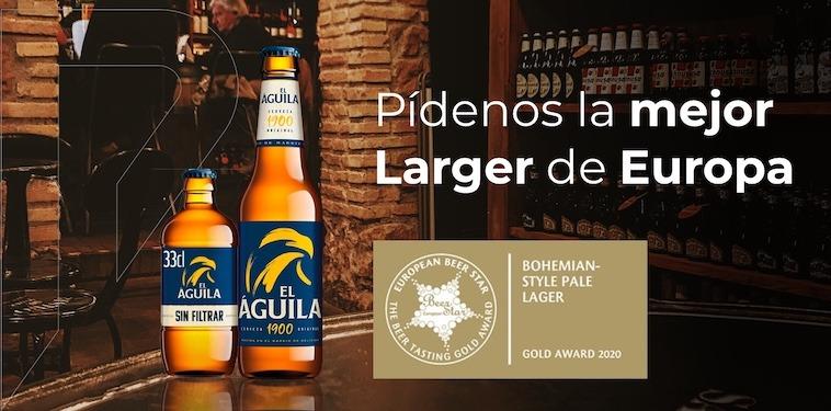 La cerveza El águila 1900 consigue el oro en los premios European Beer Star