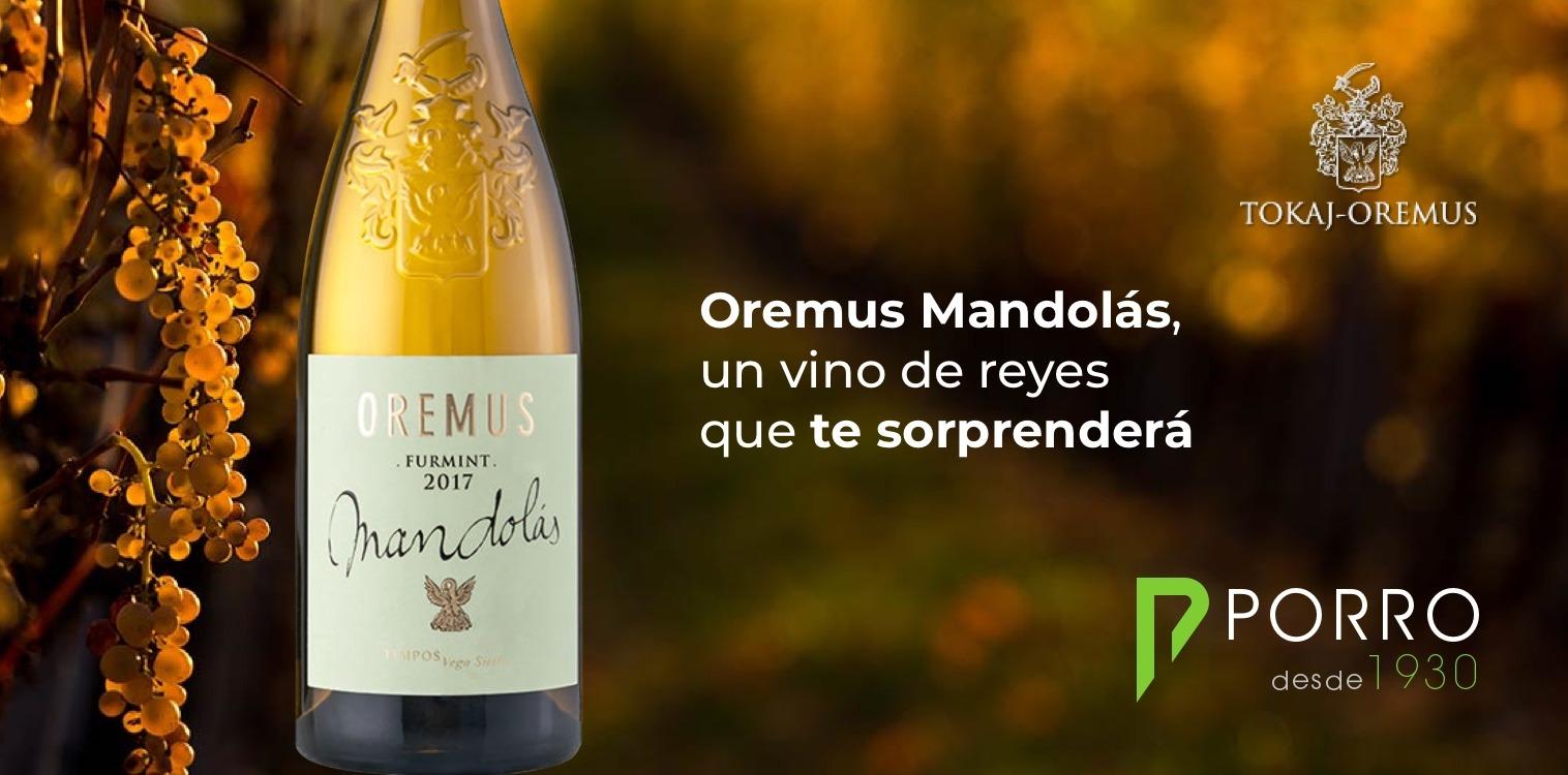 Oremus Furmint Mandolas 2017 vendido por Distribuciones Porro.