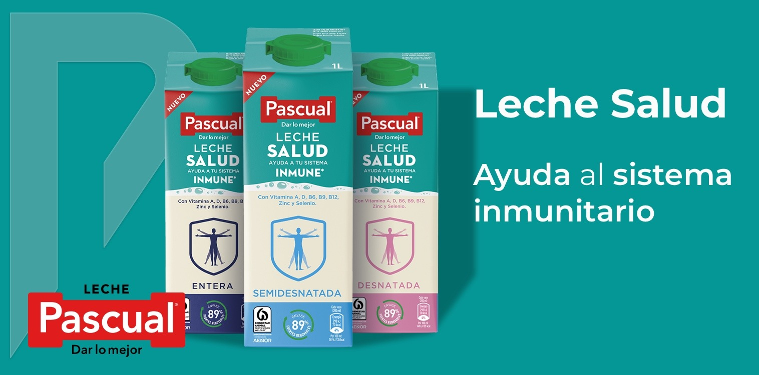 Leche Salud de pascual distribuido por Distribuciones Porro