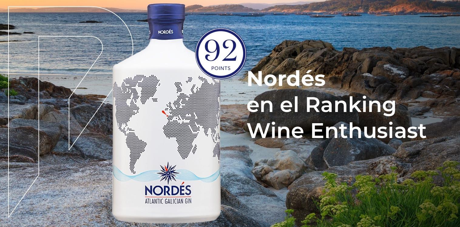 Nordés en el ranking de Wine Enthusiast, distribuido por Distribuciones Porro
