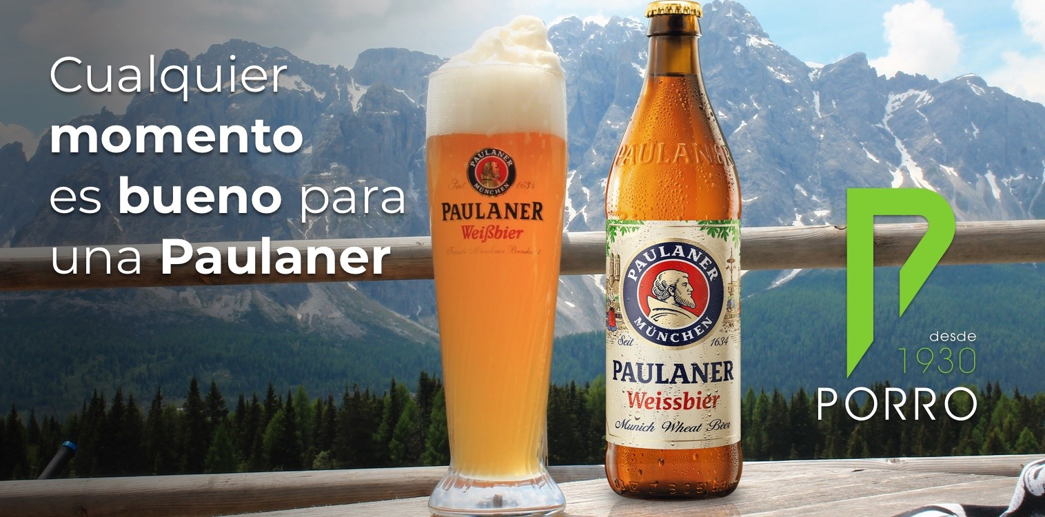 Paulaner, cerveza alemana distribuida por Distribuciones Porro