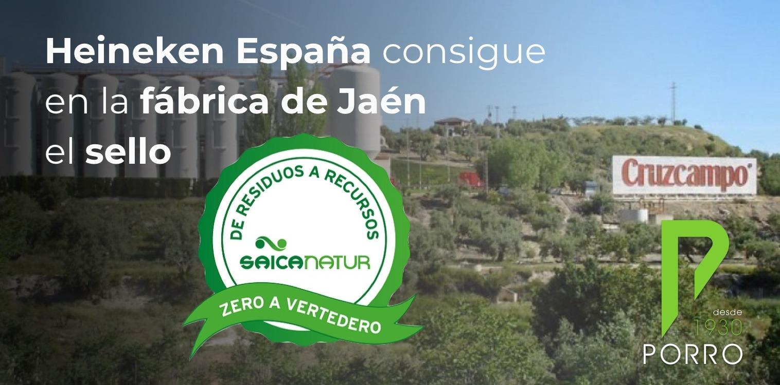"""Heineken consigue en su fábrica de Jaén el sello """"Zero a vertedero""""."""