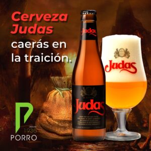 Cerveza Judas, cerveza belga distribuida por Distribuciones Porro