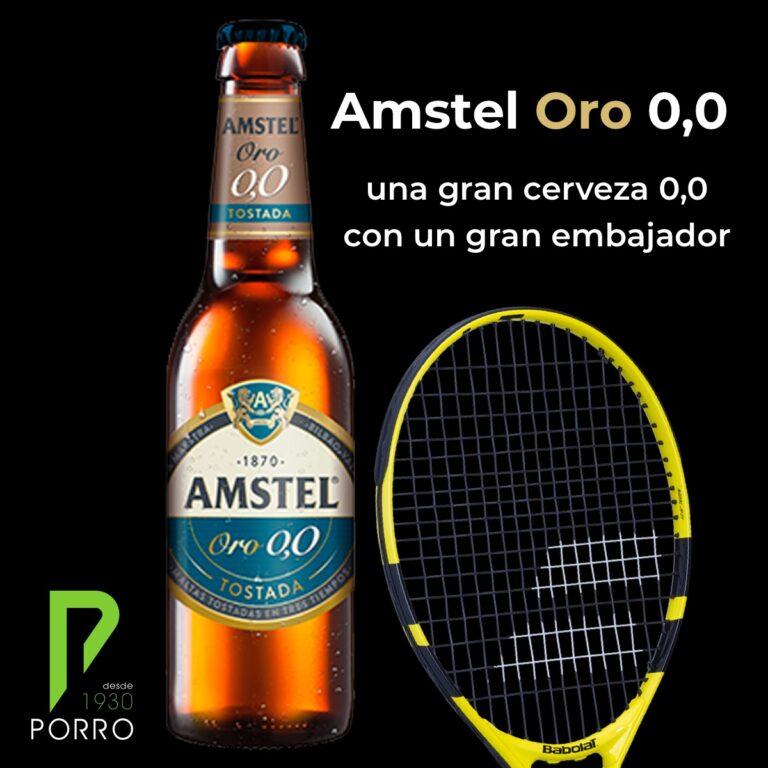 Amstel Oro 0,0 tiene como embajador a Rafa Nadal