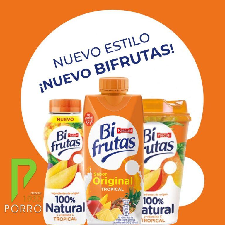 Bifrutas con nuevo diseño, distribuido por Distribuciones Porro