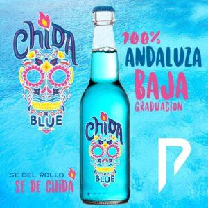 Chida Blue, bebida de baja graduación 100% andaluza, distribuida por Distribuciones Porro