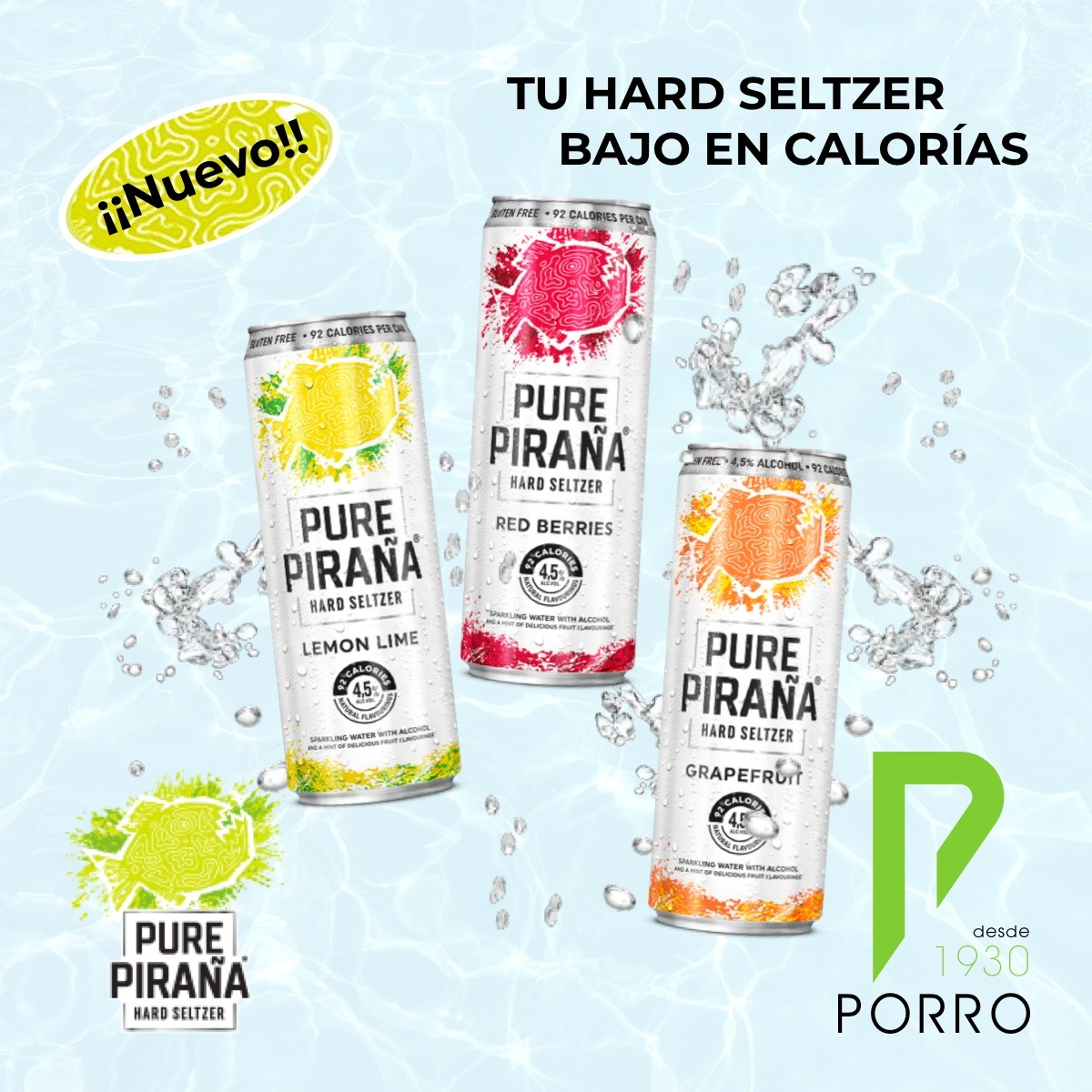 Pure Piraña, la nueva Hard Seltzer de Heineken está en Distribuciones Porro