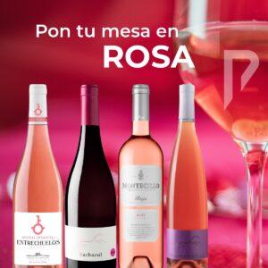 Consejos para maridar vino rosado en distribuciones Porro. Entrechuelos rosado, Barbazul rosado, Huerta de Albalá rosado, Montecillo rosado
