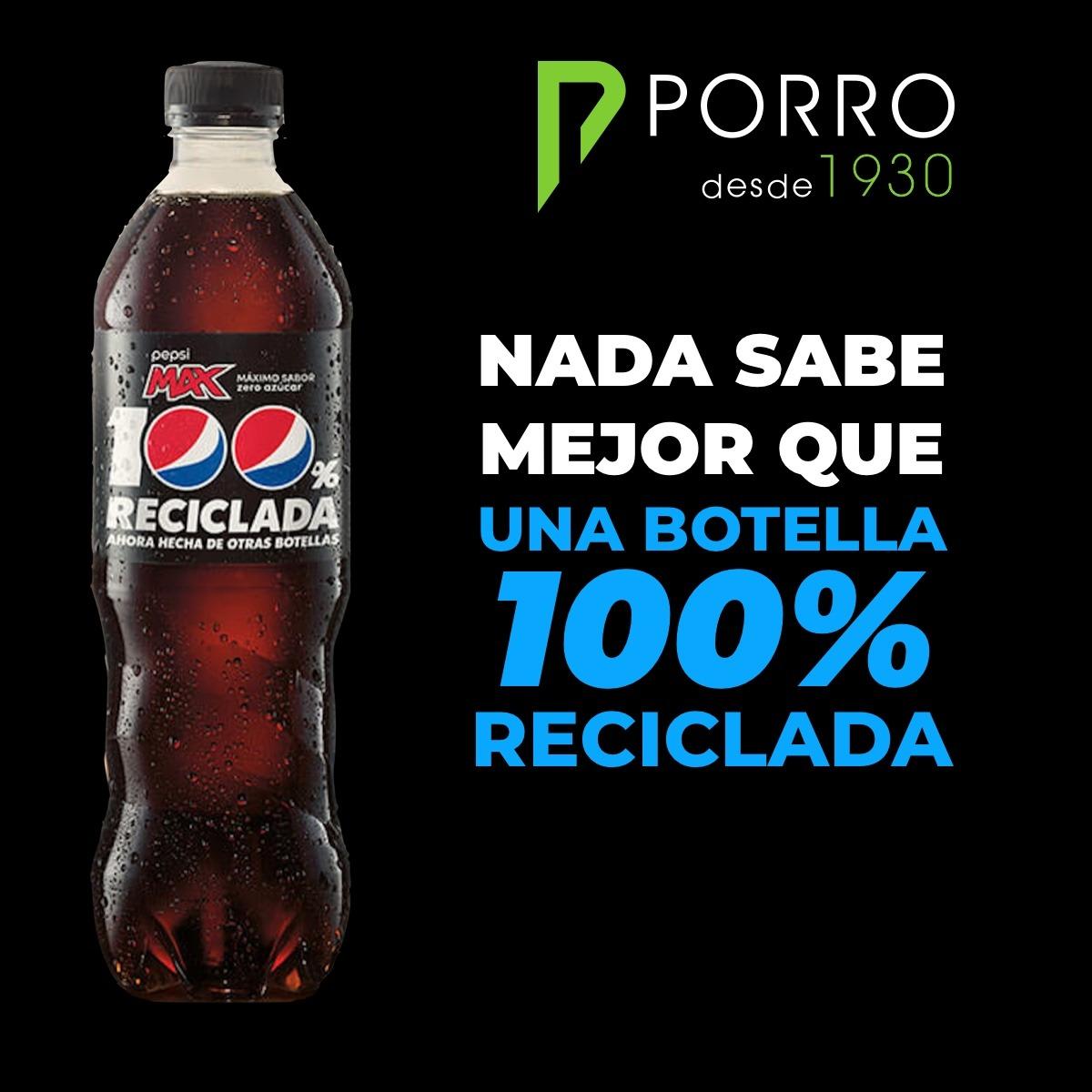 Pepsi con botella 100% reciclada en la nueva campaña de publicidad
