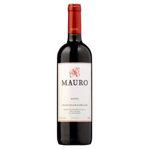 Vino tinto Mauro, IGP Castilla y León, disponible en Distribuciones Porro.