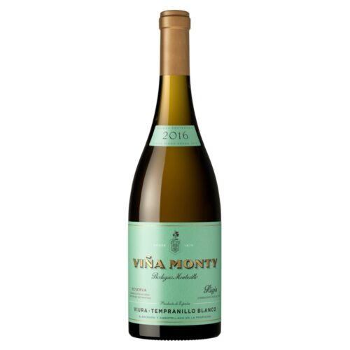 Viña Monty Blanco Reserva, elaborado con uva Viura y tempranillo. Distribuido por Distribuciones Porro.