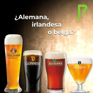 Cervezas internacionales Paulaner, Guinness, Kilkenny y Affligem distribuidas por Distribuciones Porro